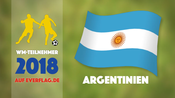 Flagge Nationalmanschaft Argentinien