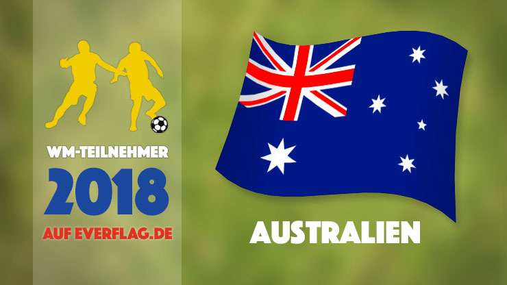 Flagge Nationalmanschaft Australien