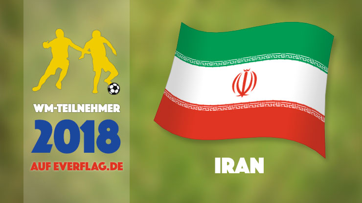 Die Nationalflagge des Iran