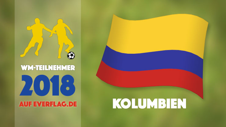 Flagge Nationalmanschaft Kolumbien