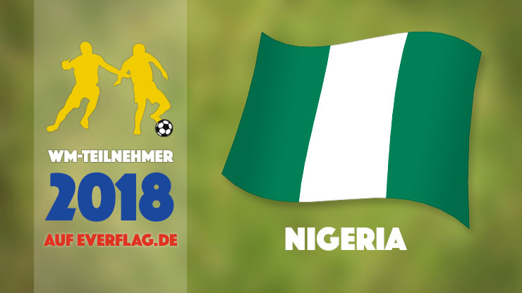 Flagge Nationalmanschaft Nigeria