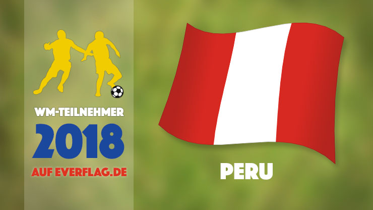 Flagge Nationalmanschaft Peru