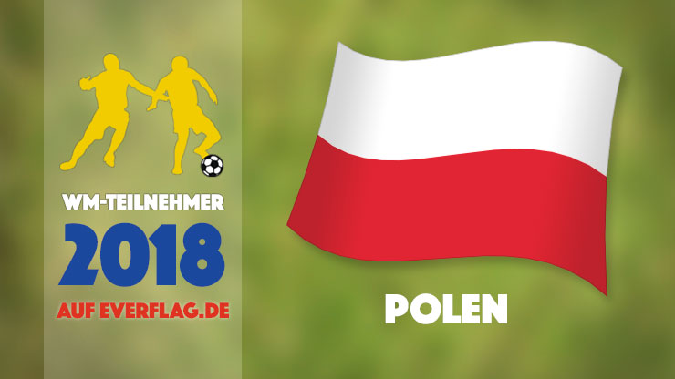 Flagge Nationalmanschaft Polen