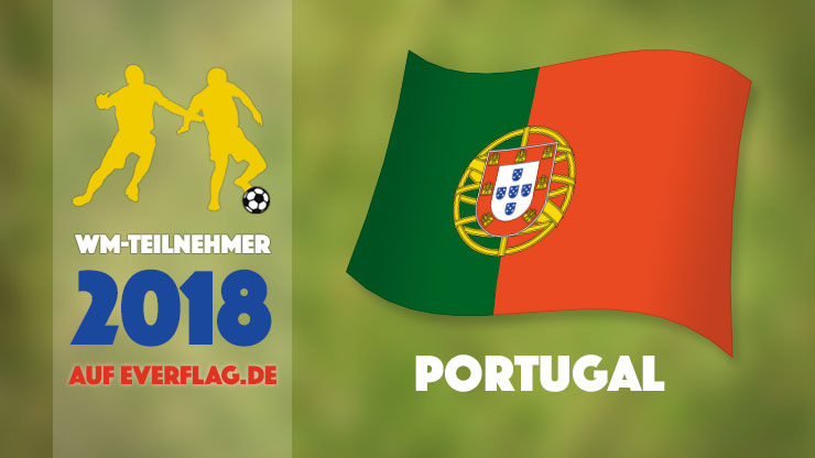 Die Nationalflagge von Portugal