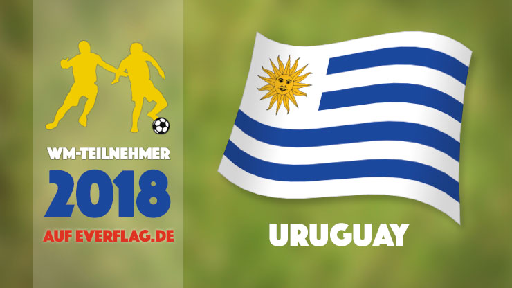 Flagge Nationalmanschaft Uruguay