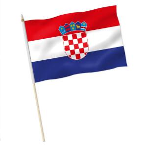 Stock Flagge Kroatien Premiumqualitat