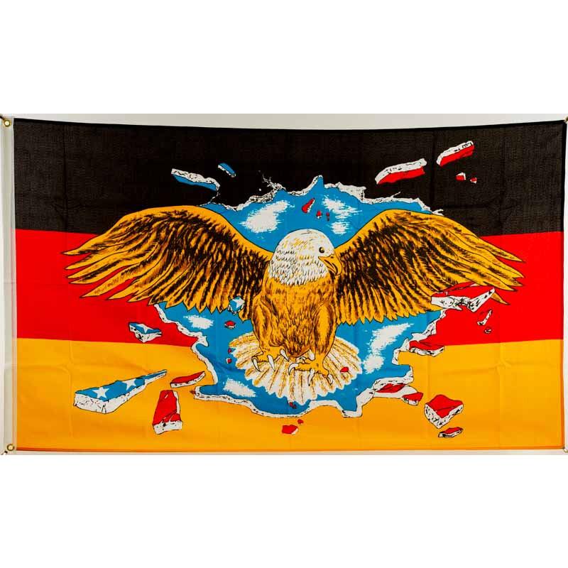 flagge 90 x 150 deutschland mit breitem adler 9 95. Black Bedroom Furniture Sets. Home Design Ideas