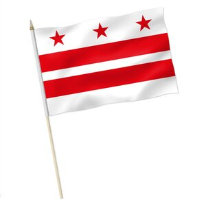 Stock-Flagge : Washington D.C. (District of Columbia) / Premiumqualität
