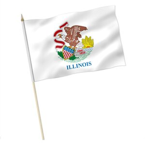 Stock-Flagge : Illinois / Premiumqualität