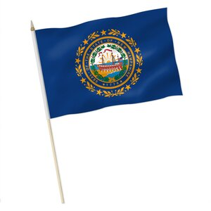 Stock-Flagge : New Hampshire / Premiumqualität