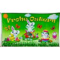 Flagge 90 x 150 : Ostern Frohe Ostern weiße Hasenkinder