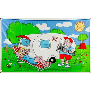 Flagge 90 x 150 : Camping