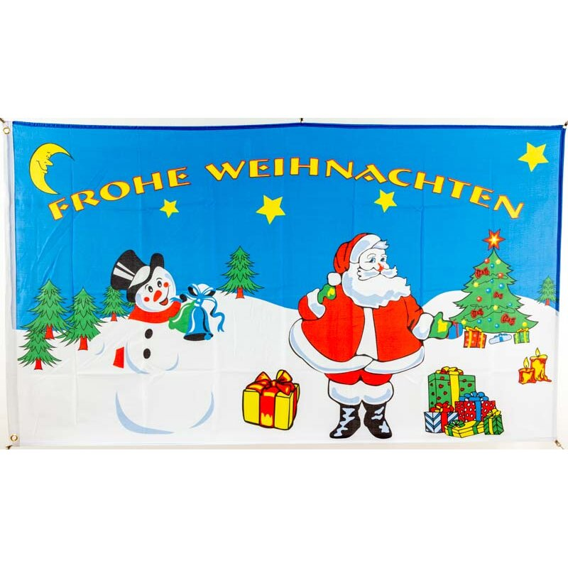 Fahne//Flagge Winter Schlitten 90 x 150 cm