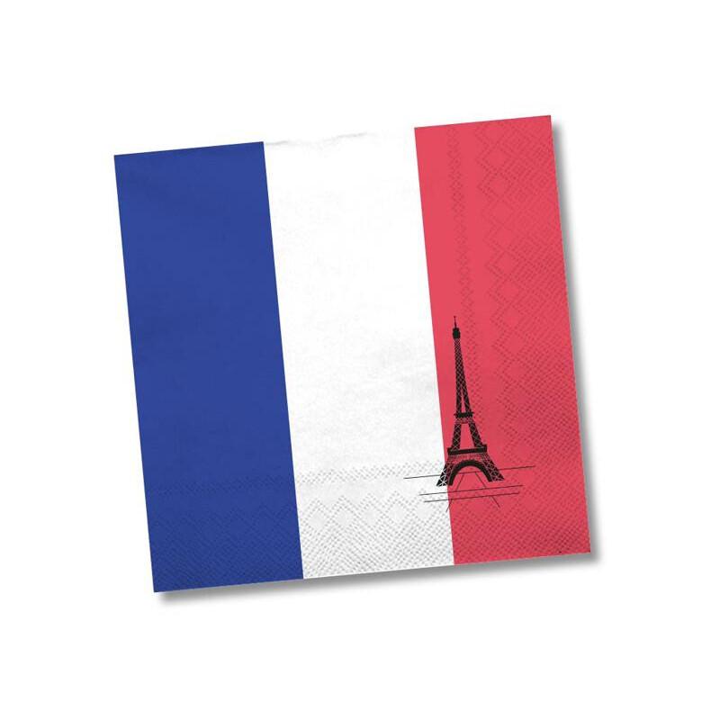 Party servietten frankreich mit eiffelturm 2 99 for Frankreich dekoration