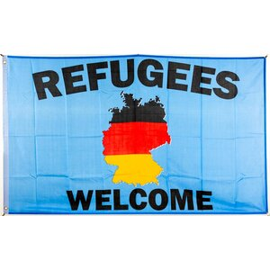 Flagge 90 x 150 : Refugees Welcome