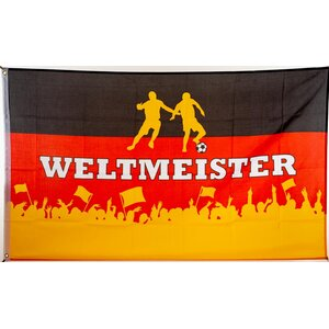 flagge 90 x 150 deutschland weltmeister 9 95. Black Bedroom Furniture Sets. Home Design Ideas