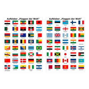 Aufkleber Set Mit Allen Flaggen Der Welt 49 95