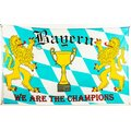Flagge 90 x 150 : Bayern we are the Champions