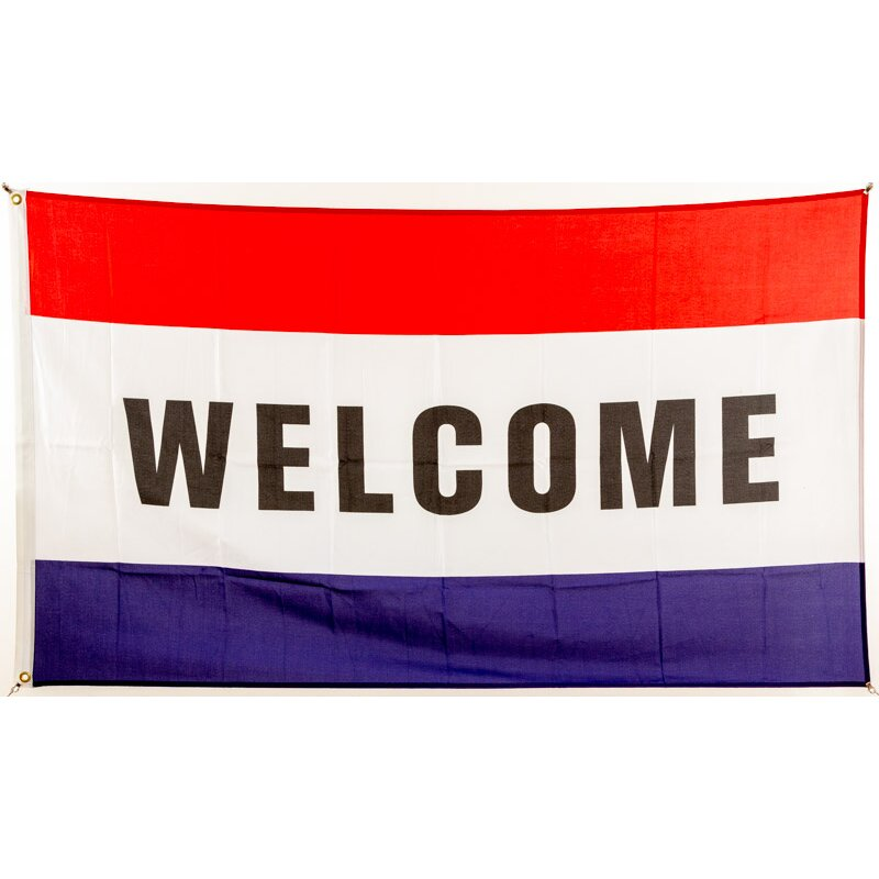 Flagge 90 X 150 : Welcome Rot Weiß Blau, 9,95