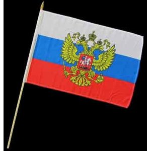 Stock-Flagge 30 x 45 : Russland mit Adler