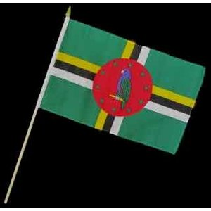 Stock-Flagge 30 x 45 : Dominica