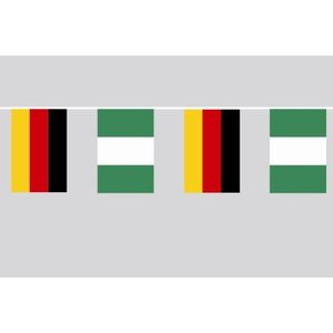 Party-Flaggenkette : Deutschland - Nigeria