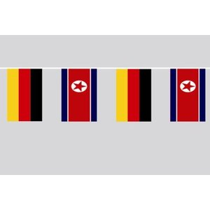 Party-Flaggenkette : Deutschland - Nordkorea