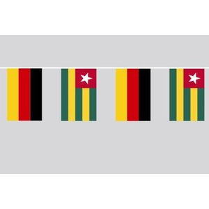 Party-Flaggenkette : Deutschland - Togo