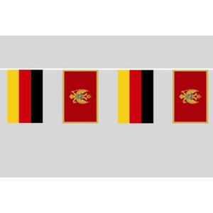 Party-Flaggenkette : Deutschland - Montenegro