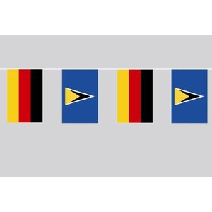 Party-Flaggenkette : Deutschland - St. Lucia