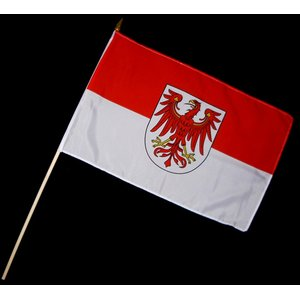Stock-Flagge 30 x 45 : Brandenburg
