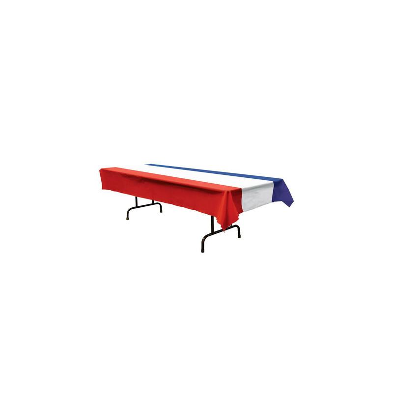 kunststofftischdecke blau wei rot 7 95. Black Bedroom Furniture Sets. Home Design Ideas