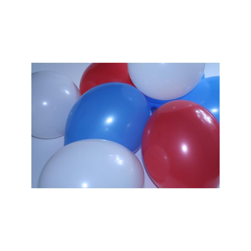 Luftballons Mischung Blau-Weiß-Rot 30 Cm, 1,99