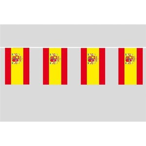 Party-Flaggenkette : Spanien + Wappen