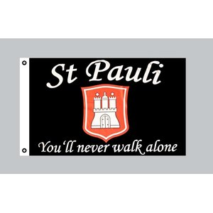 Flagge 90 x 150 : St. Pauli - You`ll never walk alone