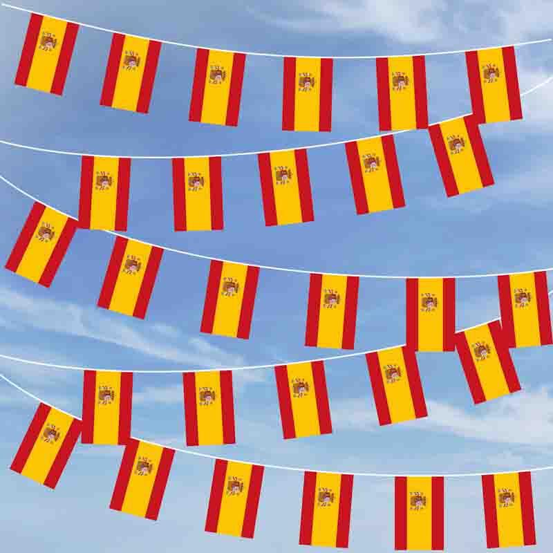 Party flaggenkette spanien wappen 10 40 m 29 95 for Dekoration spanien