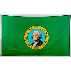 Flagge 90 x 150 : Washington
