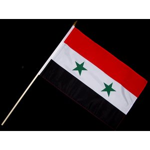 Stock-Flagge 30 x 45 : Syrien