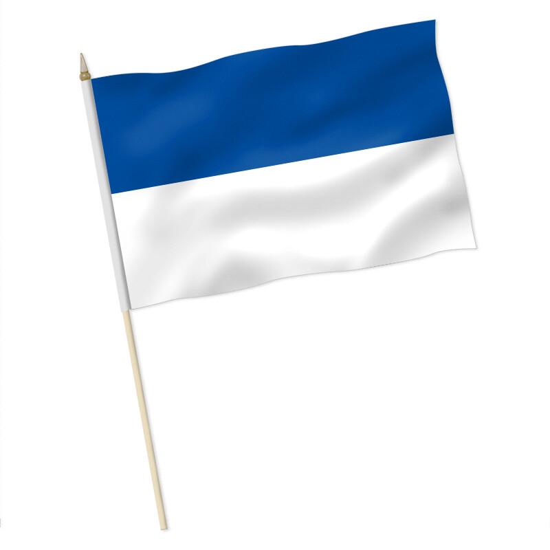 Stock-Flagge : Blau-Weiß / Premiumqualität, 9,95