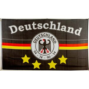 flagge 90 x 150 deutschland fanfahne 7 4 sterne 9 95. Black Bedroom Furniture Sets. Home Design Ideas