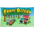 Flagge 90 x 150 : Frohe Ostern Hasenschule