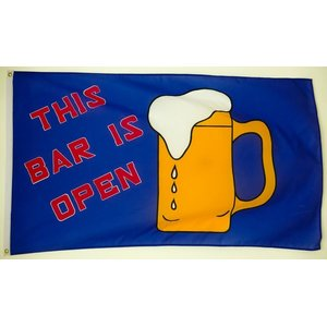 Flagge 90 x 150 : THIS BAR IS OPEN