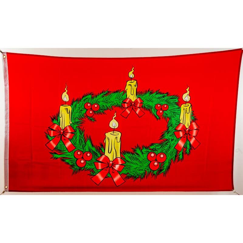 flagge 90 x 150 weihnachten adventskranz 9 95. Black Bedroom Furniture Sets. Home Design Ideas