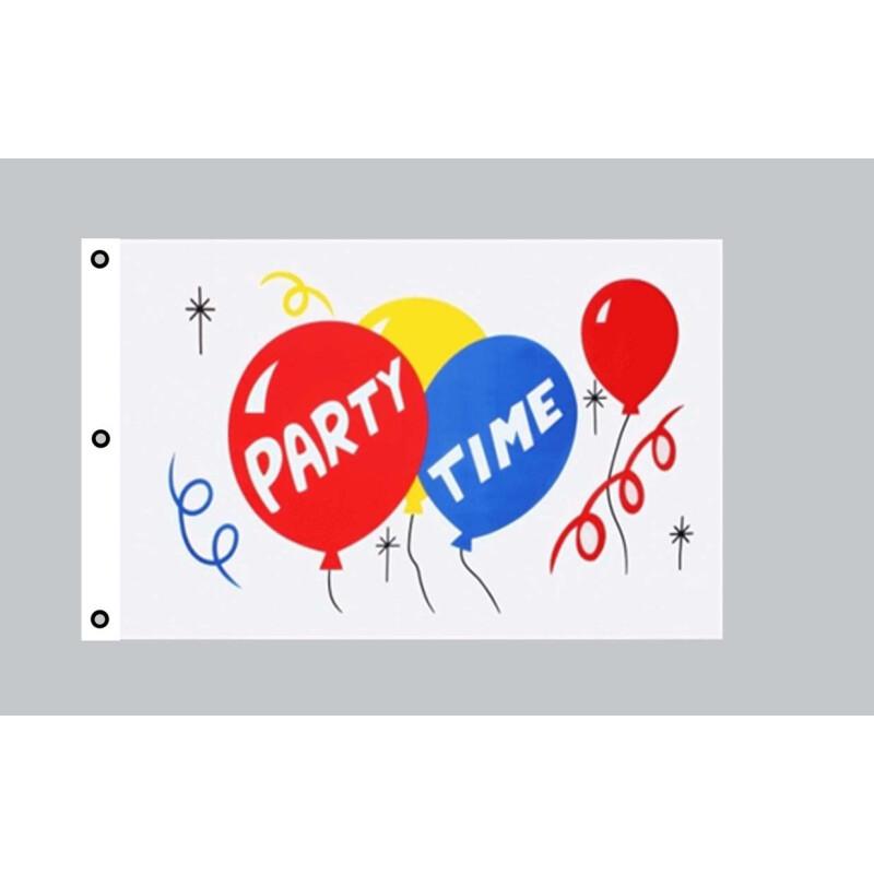Party Time Hissflagge Feier Fahnen Flaggen 150x250cm