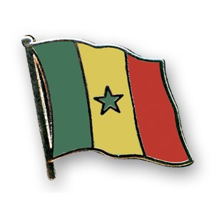 Flaggen-Pin vergoldet : Senegal