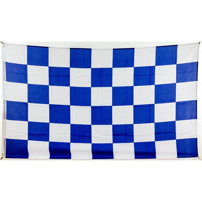 Flagge 90 X 150 : Karo Blau/weiß, 9,95