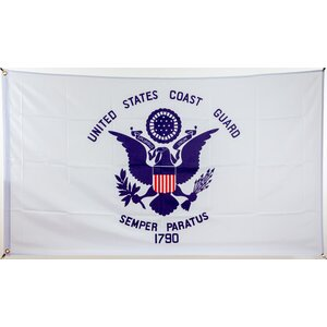 Flagge 90 x 150 : USA - US-Coast-Guard