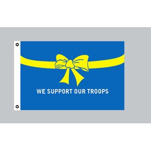 Flagge 90 x 150 : USA - We support our Troops