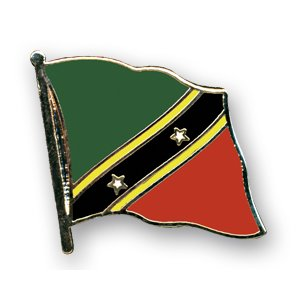 Flaggen-Pin vergoldet : St. Kitts & Nevis