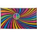 Flagge 90 x 150 : Peace bunt (Psychedelisch)